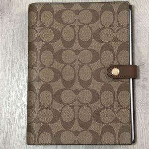 Coach signature notebook